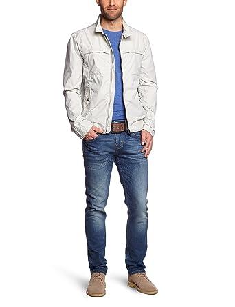 Geox Herren Jacke Slim Fit M3220BT1871F5021, Gr. 50 (50), Elfenbein ... fbf235f0e2