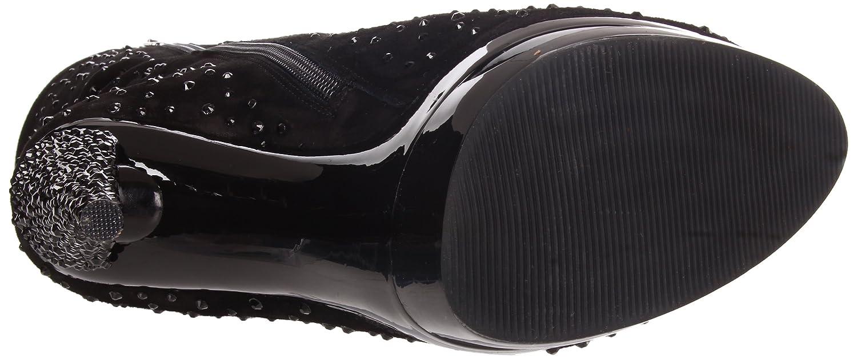 Pleaser Day & Night - Fascinate-1016 Heels - Sexy edle High Heels Fascinate-1016 Stiefeletten mit Strass 35-43 Größe EU-35 US-5 UK-2 56e4f0
