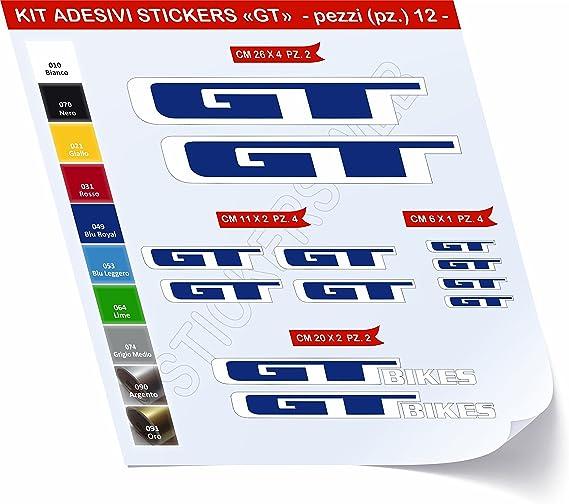 Pegatinas Bicicleta GT _ Kit 2 _ Kit Pegatinas Stickers 12 piezas ...