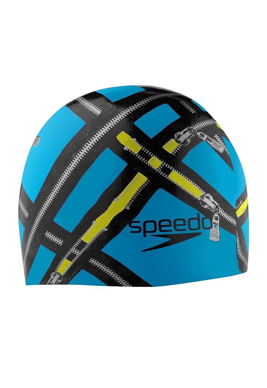 Speedoシリコン' ' Ready Zip B00DE2QAHS ' Swim Cap Cap ピーコックブルー B00DE2QAHS, マリアージュドケイ:cccfb6d6 --- lindauprogress.se