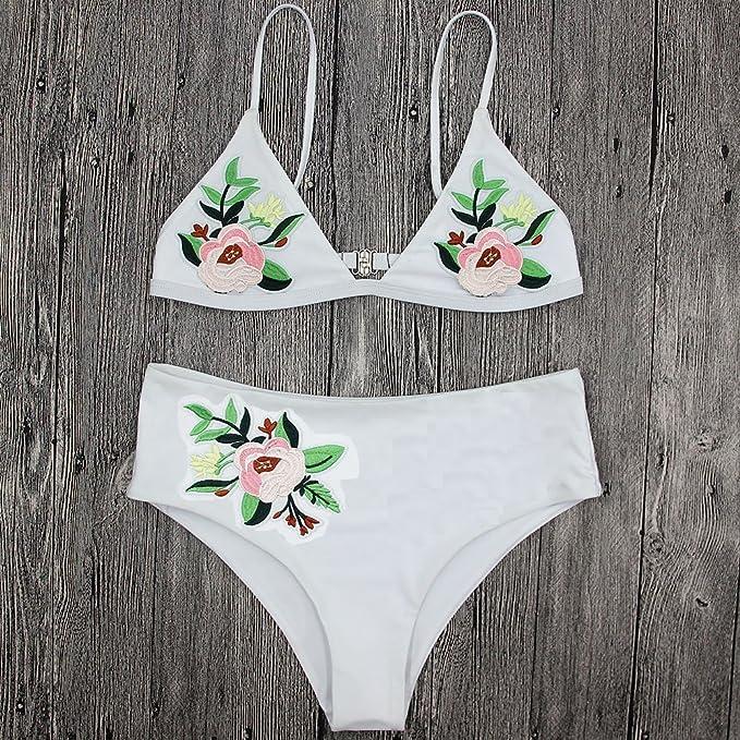 c4832ca507 Amazon.com  Axchongery Women Bikini Set