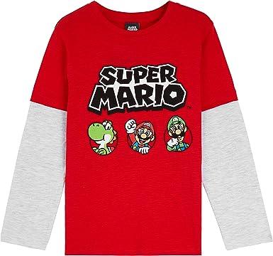 Super Mario Camiseta Niño, Camisetas de Manga Larga Azul y Roja con Mario Bros, Ropa para Niño de Algodon, Regalos para Niños y Adolescentes 3-13 Años: Amazon.es: Ropa y accesorios