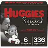 HUGGIES Special delivery hypoallergenic baby wipes, unscented, 6 flip-top packs (336 wipes total), 336 Count
