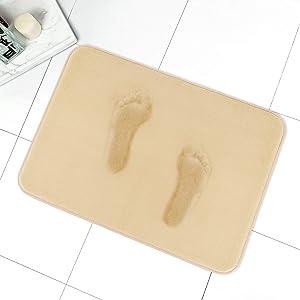 MAYSHINE Memory Foam Bathroom Rugs Non-Slip Water Absorbent Fast Dry Luxury Soft Bath mat (17x24 Inches, Beige)…
