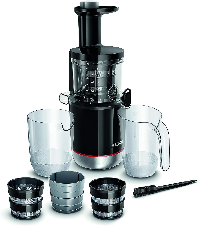 Bosch MESM731M VitaExtract Extractor de jugos, con tecnología de prensado lento, sistema MixControl con regulador de pulpa