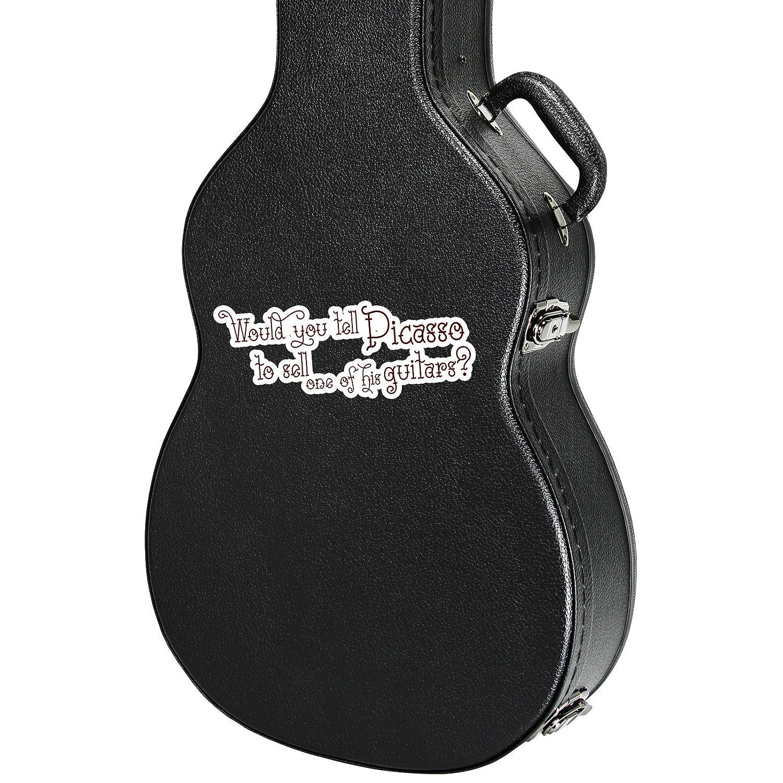 Pegatina para caja de instrumentos de guitarra con cita de Picasso ...