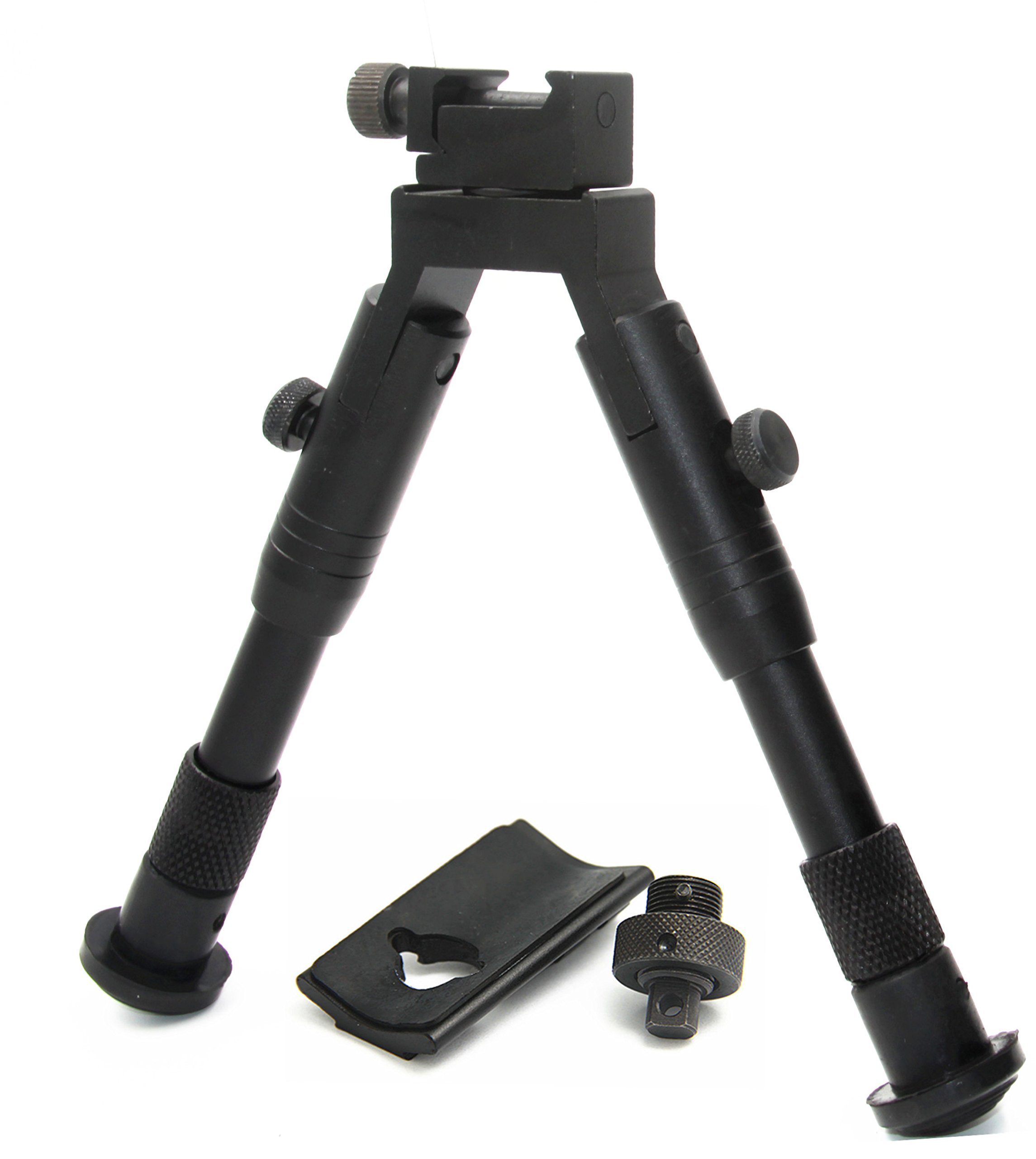 JINSE 6.2-6.7 Inches Tactical Bipod Picatinny Rail Swivel Foldable with Adapter