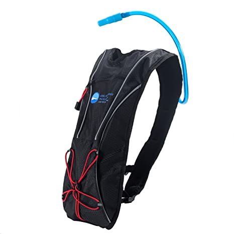 Outdoor Nation Hydration Pack with 1.5 L Water Backpack Bladder. Adjustable Strap Fits Men, Women or Kids. Ideal for Running, Cycling, Bike/hiking, ...