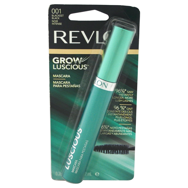 Amazon.com : Revlon Grow Luscious Mascara and Lash Enhancer for Women, No. 001 Blackest Black/Lilac Shimmer, 0.38 Ounce : Beauty