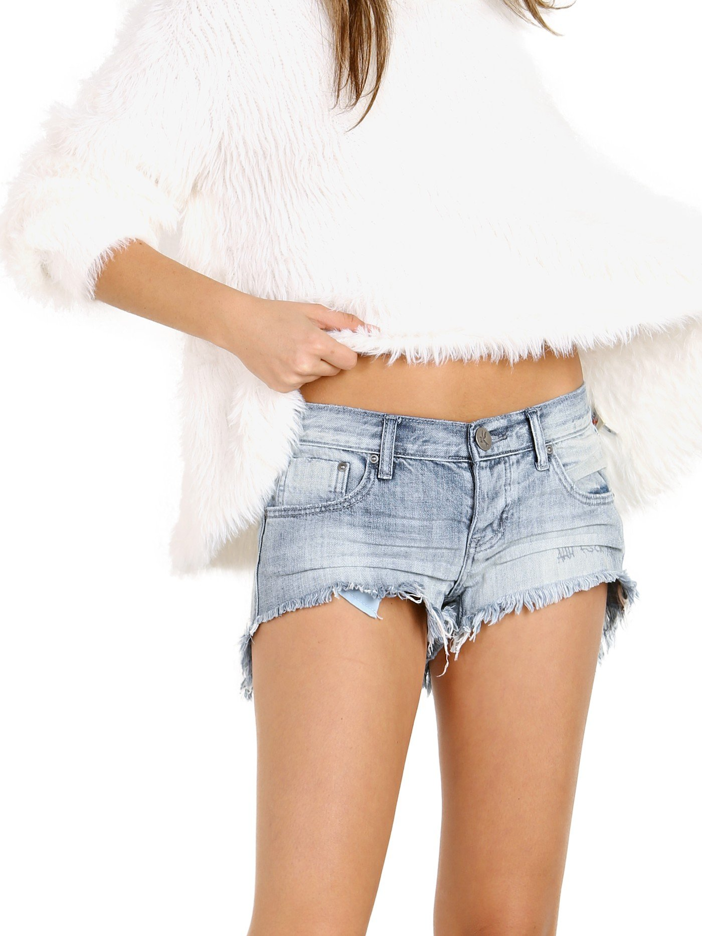 One Teaspoon Women's Low Waist Bonita Shorts, Diamonde, 29