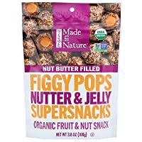 Made in Nature Organic Nutter Jelly Nut Butter Figgy Pops 3.8 oz Bags - Pack of 6