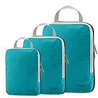 Packing Cubes 3/4er Set, Gonex Kleidertaschen 4-teilig Verpackungswürfel, Kleidertaschen Set, Kofferorganizer Reise Würfel