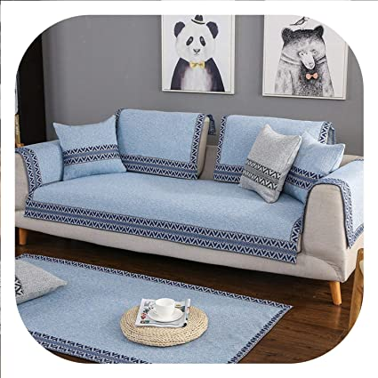 Amazon.com: Thicken Cotton/Line Sofa Cover Dirt-Proof Sofa ...