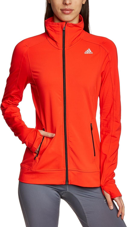 adidas Damen Jacke Techfit Climawarm, Hi Res Red F13Black
