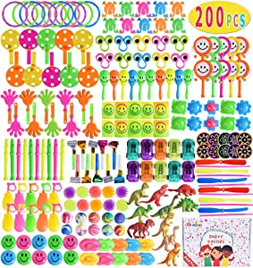 Max Fun 200Pcs Random Color Assortment Toys for Kids Birthday Party Favors Prizes Box Toy Assortment Classroom Rewards,Pinata Filler Toys, Toys Treasure Box