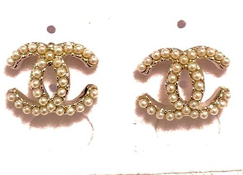 a basso prezzo 8cabf 0ce01 Chanel, orecchini con perle: Amazon.it: Gioielli
