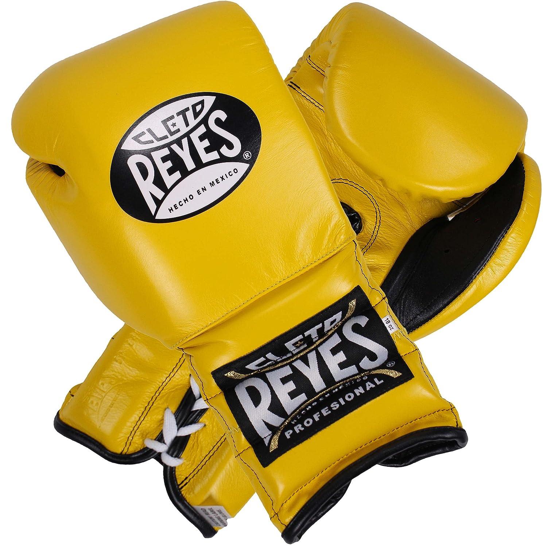 Cleto Reyes従来レースボクシンググローブ B00G2SK5A4 イエロー 18 oz.