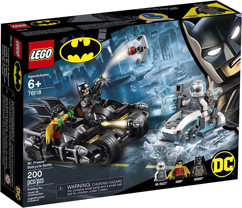 Amazon.com: LEGO DC Batman Mr. Freeze Batcycle Battle 76118 ...