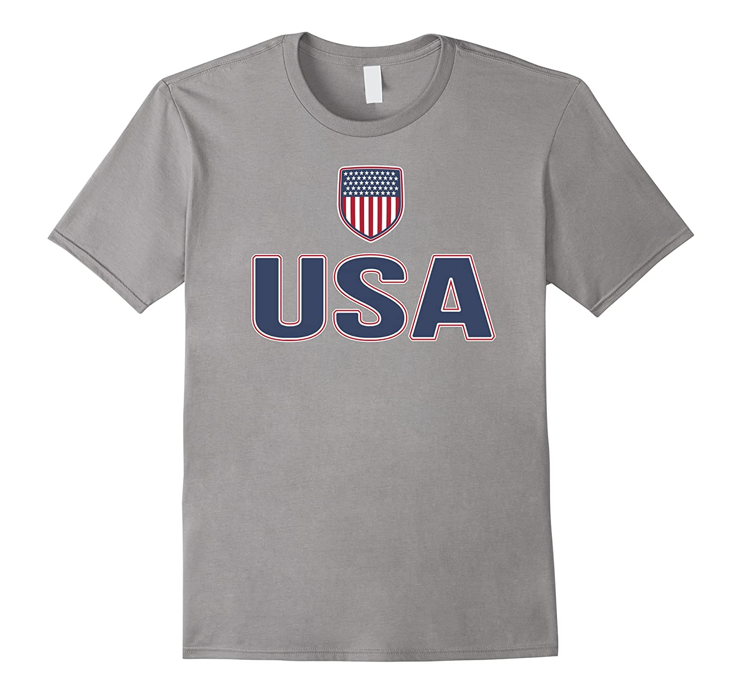 USA Red White Blue T-shirt American Flag USA Stars Stripes-Vaci