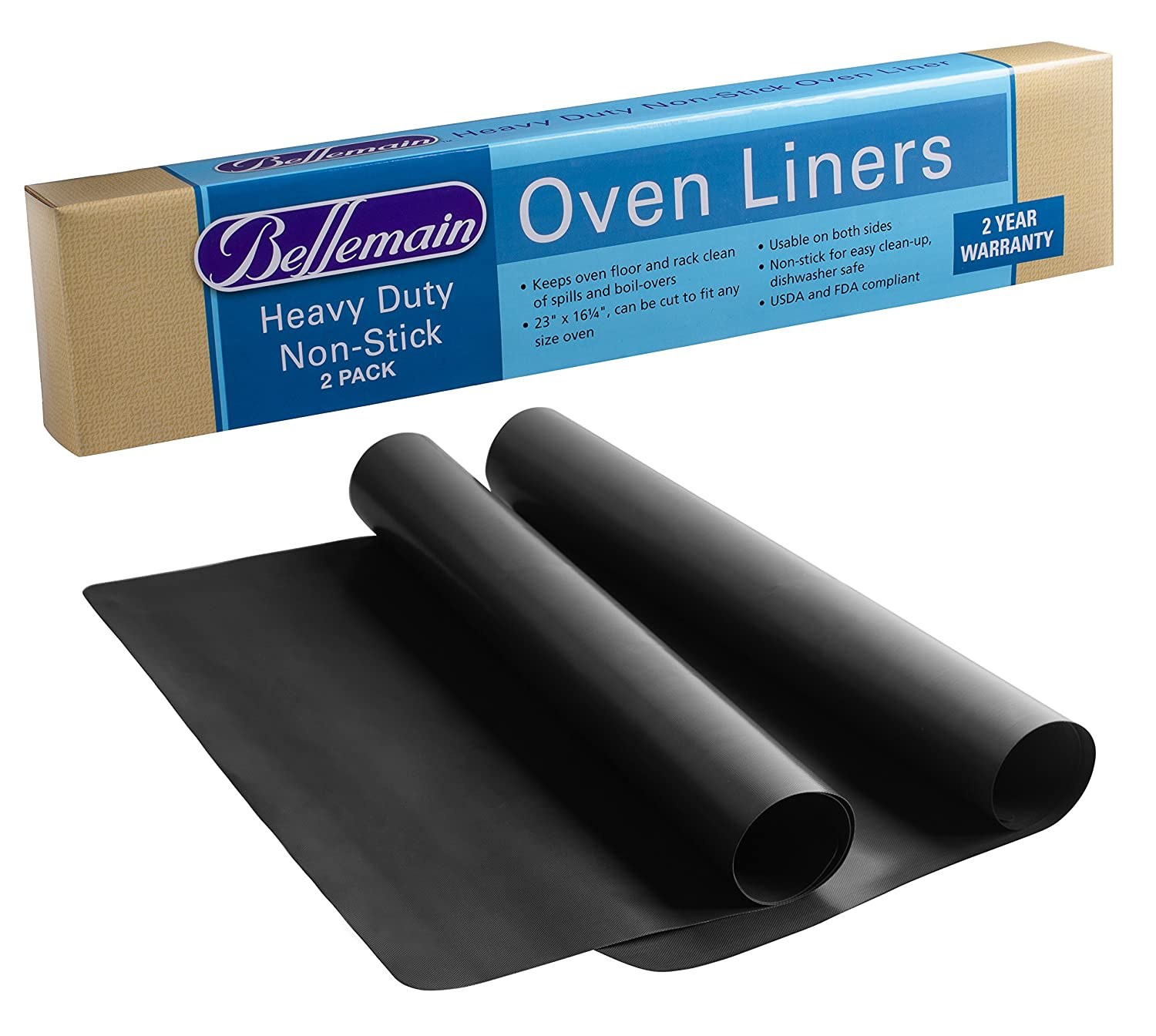 Oven Liners For Electric Ovens ~ Oven liner heavy duty by bellemain pack for electric