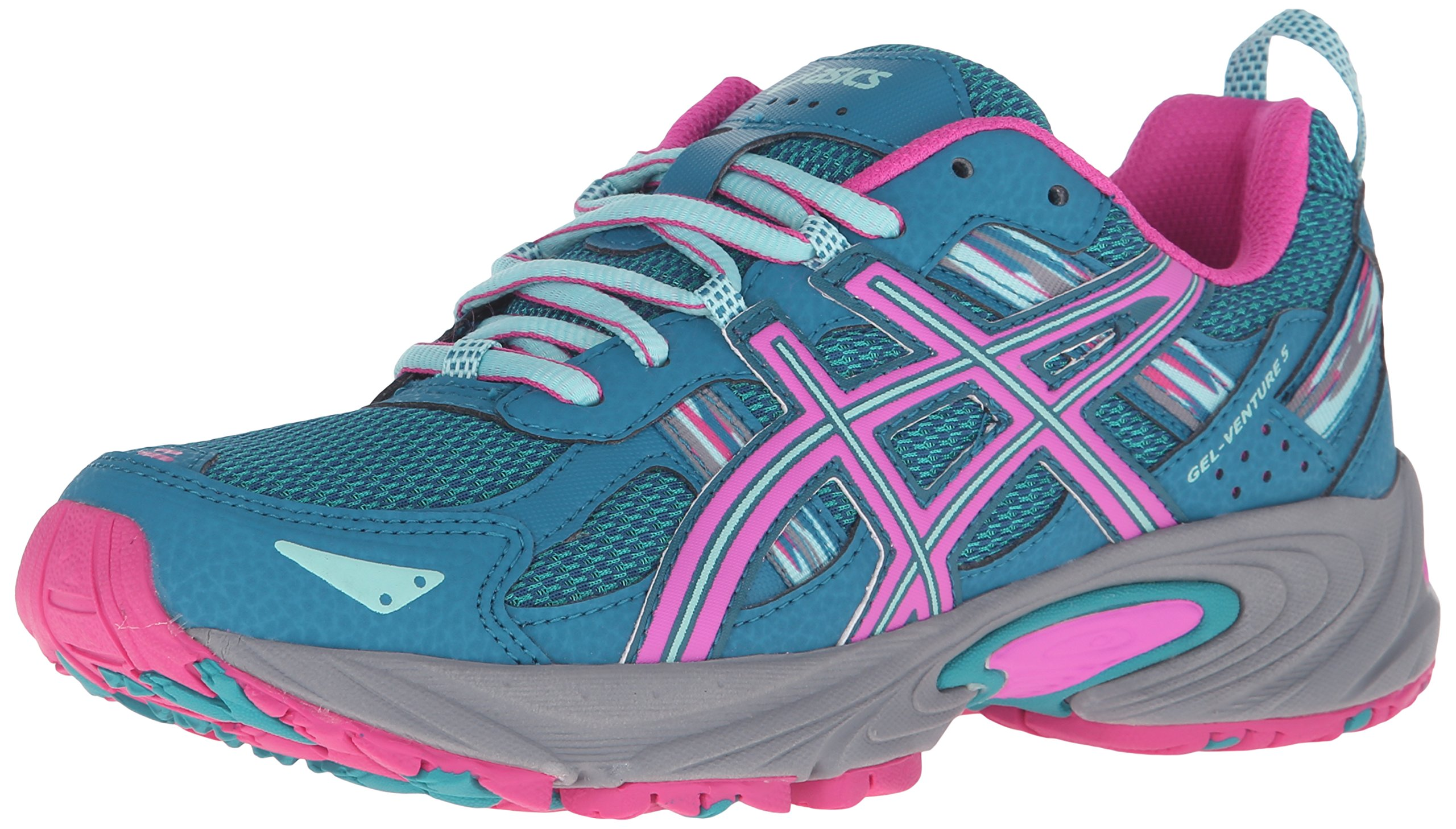 ASICS Women's Gel-Venture 5 Trail Runner Ocean Depth/Pink Glow/Aruba Blue 6 M US