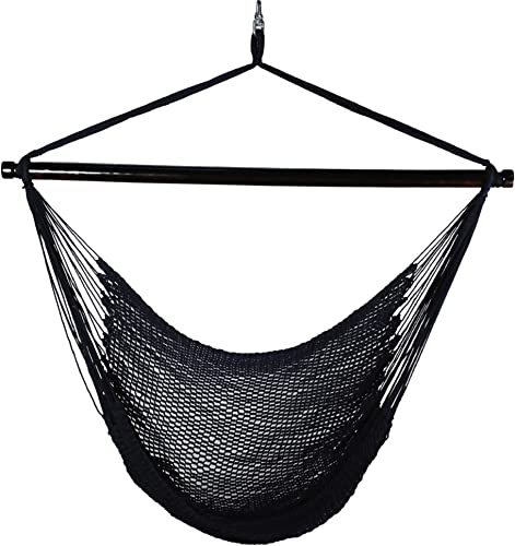 Algoma 4913N Hanging Polyester Rope Chair, Navy