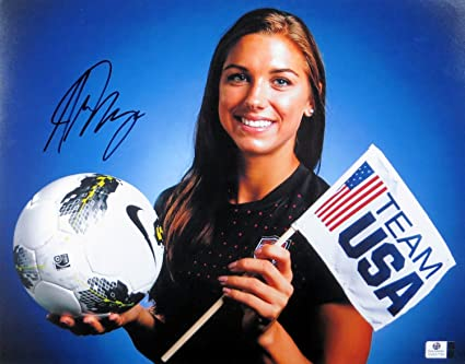 76245aad002 Image Unavailable. Image not available for. Color  Alex Morgan Signed  Autographed 11X14 Photo Team USA ...
