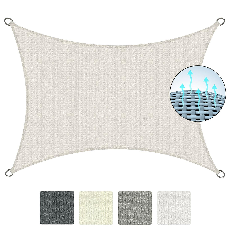 Sol Royal Tenda a vela traspirante 300x200 cm SolVision HS9 - protezione rettangolare parasole e anti UV - grigio