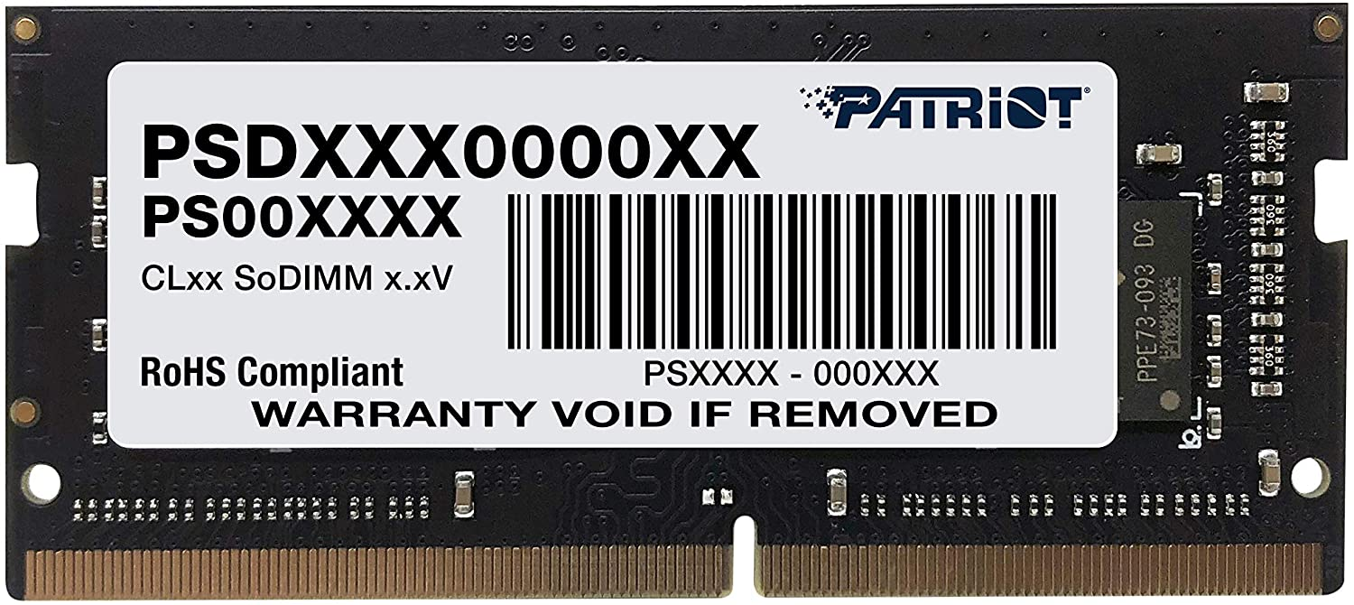 Patriot Memory Signature Line DDR4 16GB (1x16GB) SODIMM Frequency: 2400MHz (PC4-19200) 1. 2 Volt - PSD416G24002S
