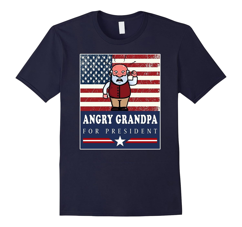Angry Grandpa President Funny Shirt-Awarplus