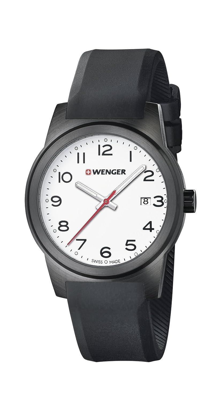 WENGER Herren-Armbanduhr SPORT DYNAMIC FIELD COLOR Analog Quarz Silikon 01.0441.150
