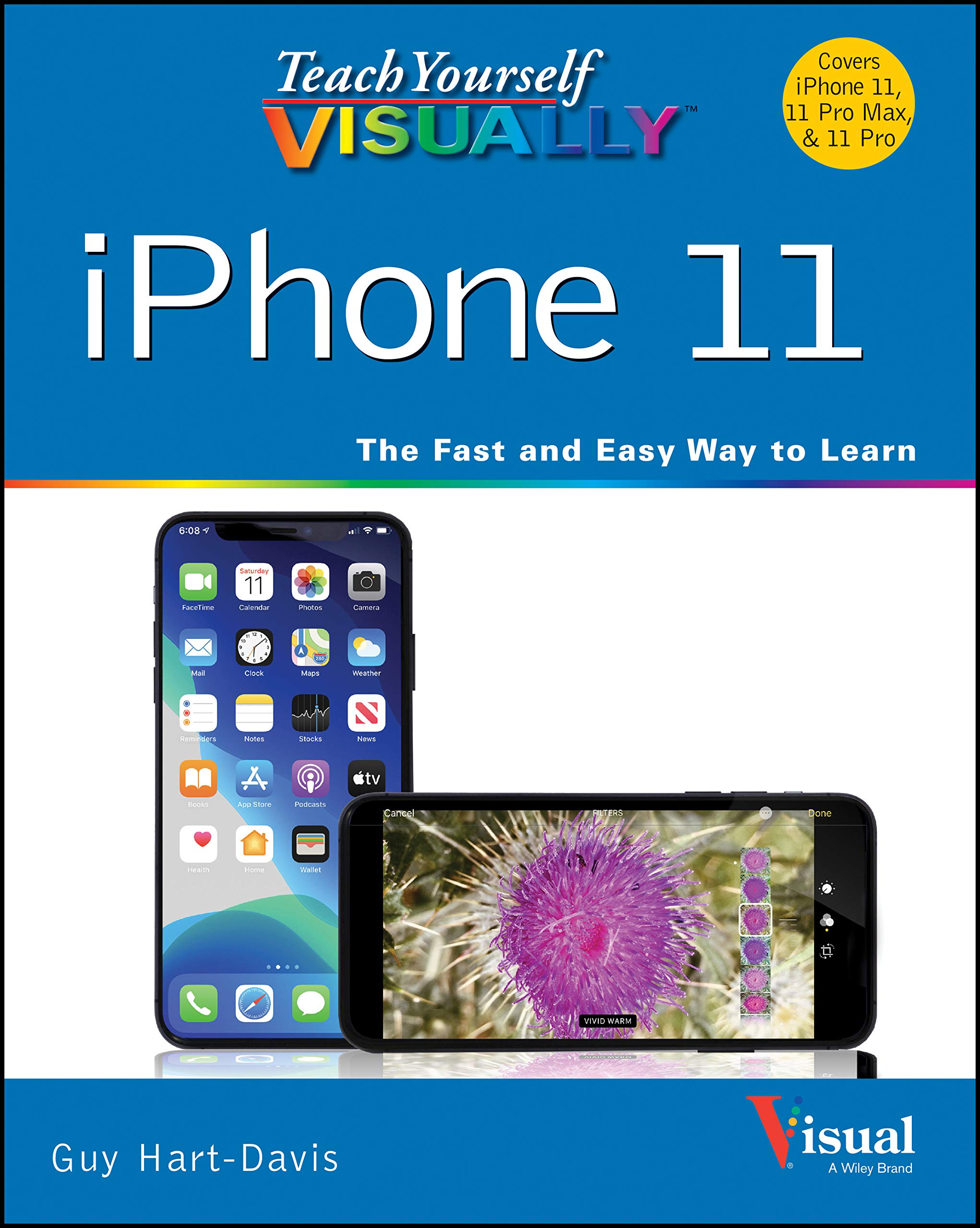 Book Cover: Teach Yourself VISUALLY iPhone 12, 12 Pro, and 12 Pro Max