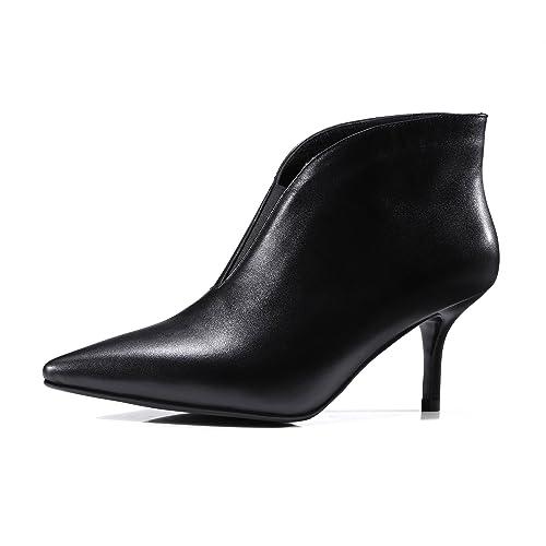 QIN&X Señaló la mujer Tacones Stiletto Toe Botines cortos zapatos con plataforma: Amazon.es: Zapatos y complementos