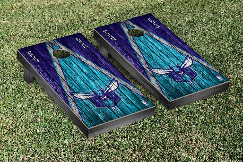 Charlotte Hornets NBA Basketball Regulation Cornhole Game Set Triangle Weathered Version