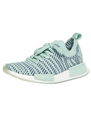 01a47f995 Image Unavailable. Image not available for. Color  adidas Originals Women s  NMD R1 Stlt Primeknit Trainers Ash Steel US5.5 Green