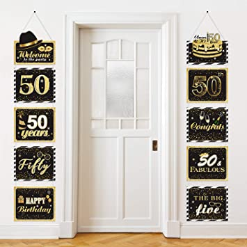 Amazon.com: Letrero grande de 50 aniversario para decoración ...