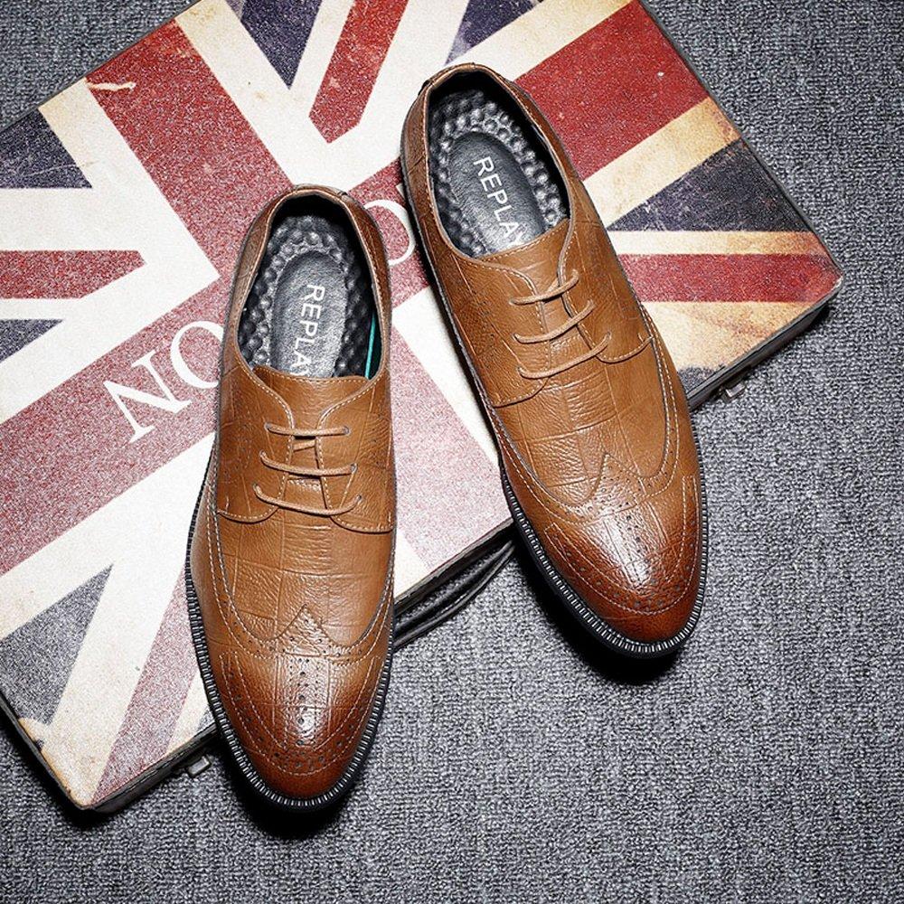 HYF Herren Herren Herren Classic PU Lederschuhe Classic Lace Up Atmungsaktiv Formale Business Gefütterte Oxfords Atmungsaktiv  7fcd36