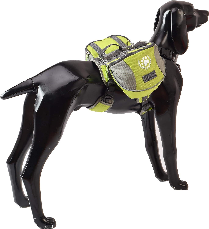blackgoddy Hund Rucksack verstellbar Pack Satteltasche Stil Hund Zubeh/ör f/ür Wandern Camping Reise