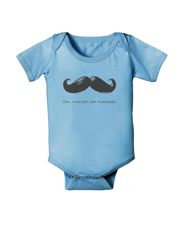 TooLoud Ceci Nest pas une Moustache Baby Romper Bodysuit