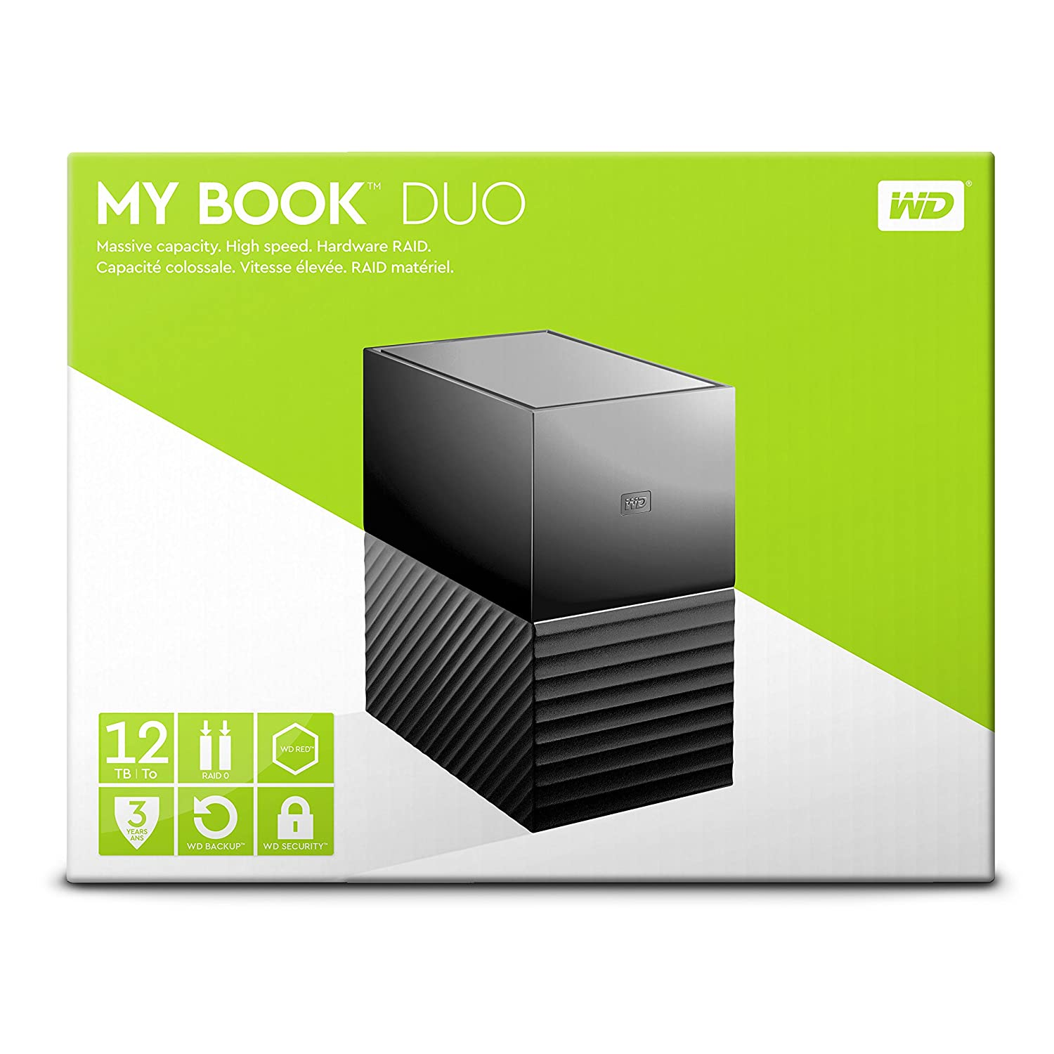 My Book Duo 12TBHigh Capacity External Hard Drive with
