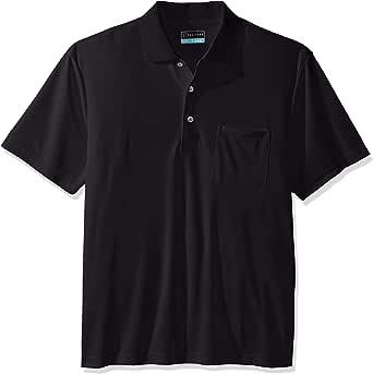 PGA TOUR Mens PVKS70E7 driflux Solid Pocketed Polo Short Sleeve Golf Shirt