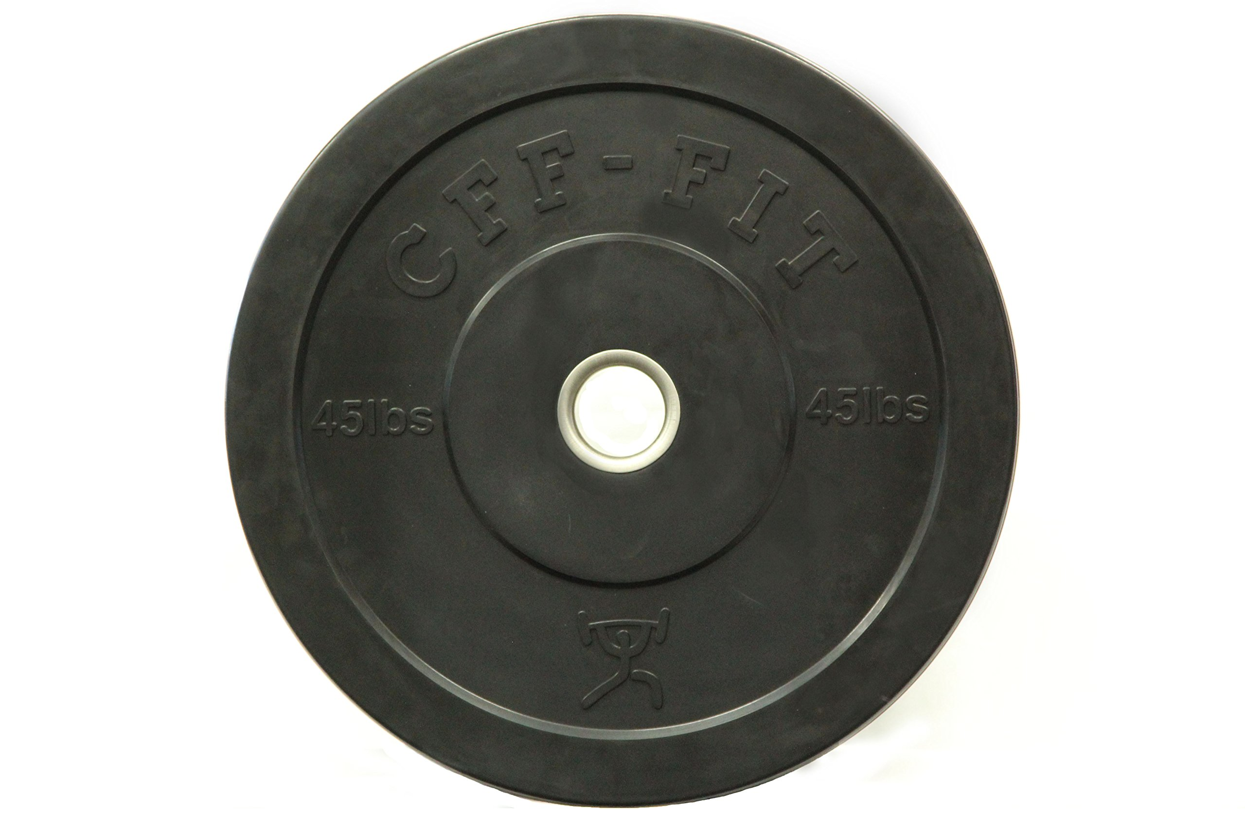 CFF Rubber Bumper Plates, Black, 45 lb