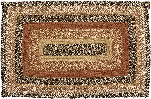 VHC Brands 10121 Primitive Flooring Prim Grove Jute Rectangle 20×30 Rug, Plain
