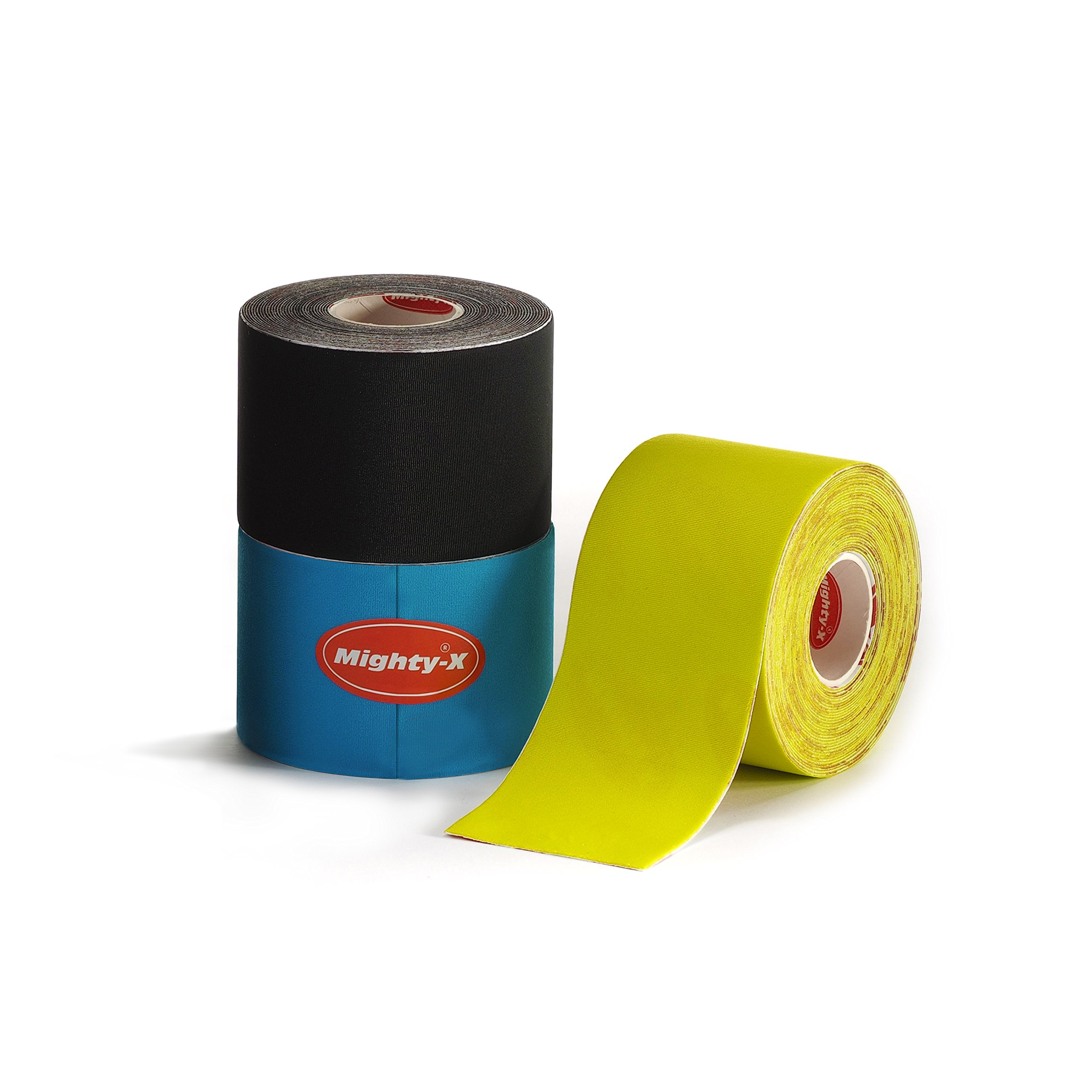 """Professional Kinesiology Tape - 3 Pack Mixed - Uncut Tape - Synthetic Kinetic Tape - Heavy Duty Sport Tape - Muscle Tape - KTape - Knee Tape - Premium Synthetic Sports Tape - K Tape - 2"""" x 5y by Mighty-X (Image #3)"""