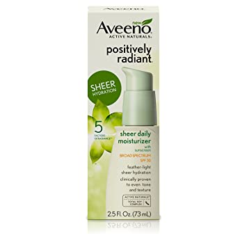 Aveeno Positively Radiant Daily Facial Moisturizer With Broad Spectrum Spf 30, 2.5 Fl. Oz Pores be Pure Skin-Clarifying Facial Mud Mask - 3.4 oz. by Formula 10.0.6 (pack of 1)