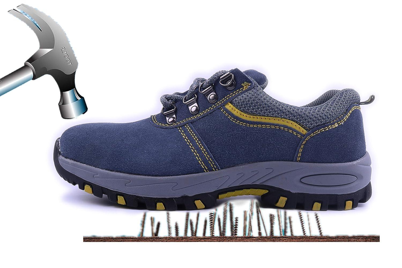 Aizeroth-UK Chaussure de Sécurité 19999 Industrie Respirant S3 Chaussure de Travail Prévention Embout de Protection en Acier Semelle de Protection Anti-Collision Prévention des piqûres Bottes Baskets Chantiers et Industrie Gris 09e8128 - deadsea.space