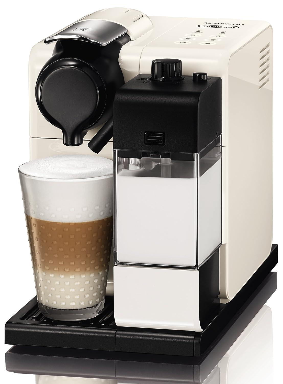 Nespresso DeLonghi Lattissima Touch EN 550W-Cafetera de cápsulas, 19 bares, apagado automático, depósito de leche, táctil, color Glam White