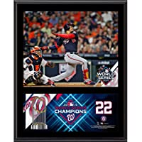 "$39 » Juan Soto Washington Nationals 2019 World Series Champions 12"" x 15"" Sublimated Plaque - MLB Player Plaques and Collages"