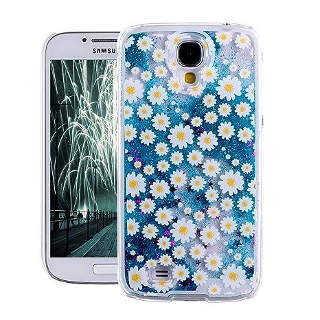 S4 Funda,Samsung Galaxy S4 Carcasa,S4 Case,Funda para Samsung Galaxy S4,EMAXELERS 3D Caso Funda Cute patrón Fluyendo líquido Flotando Bling Glitter ...