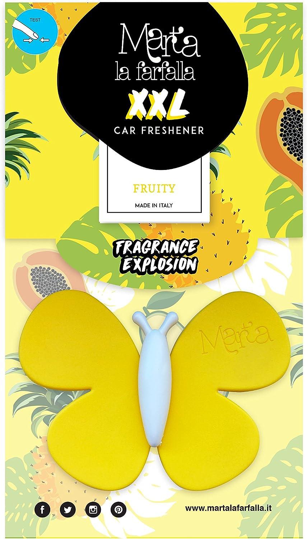 Fra-Ber profumatore per Auto e Ambienti Formato XXL per Profumo pi/ù Intenso fragranza Fruity Giallo 3PZ